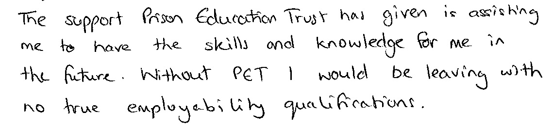 Quote from PET learner