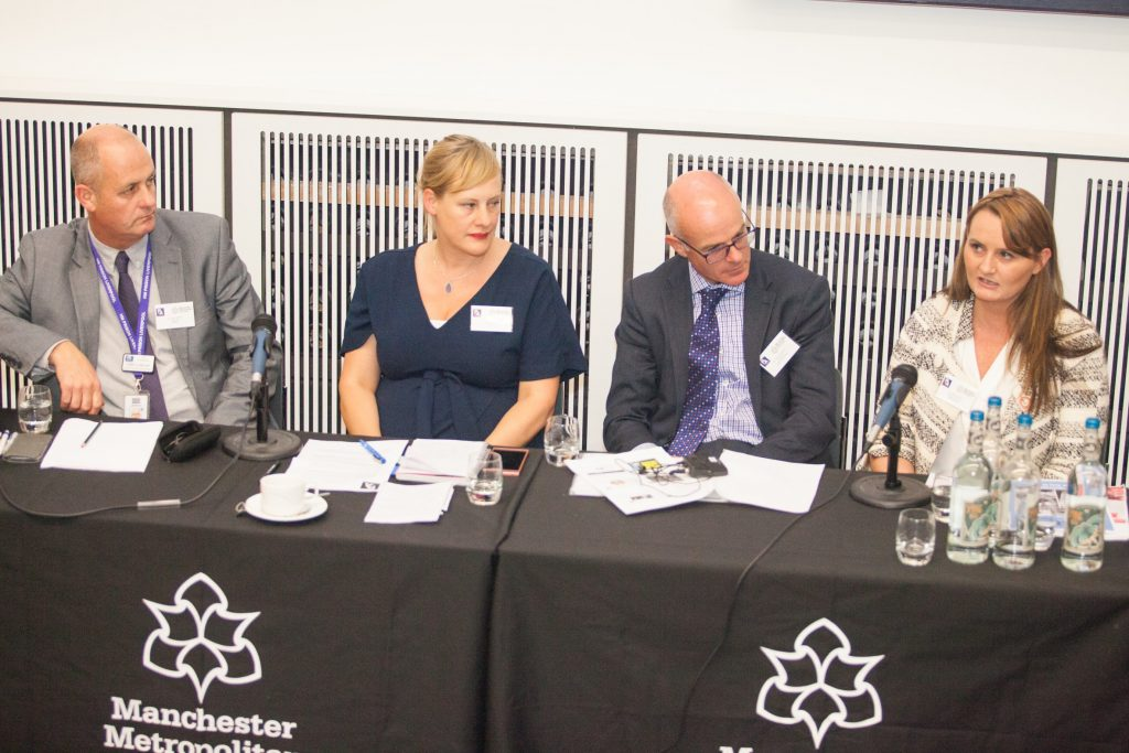 Francesca Cooney chairing the 'Perspectives from prison governors' panel at the PLA Conference 2018
