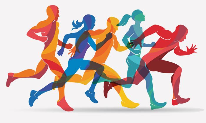 Graphic of runners
