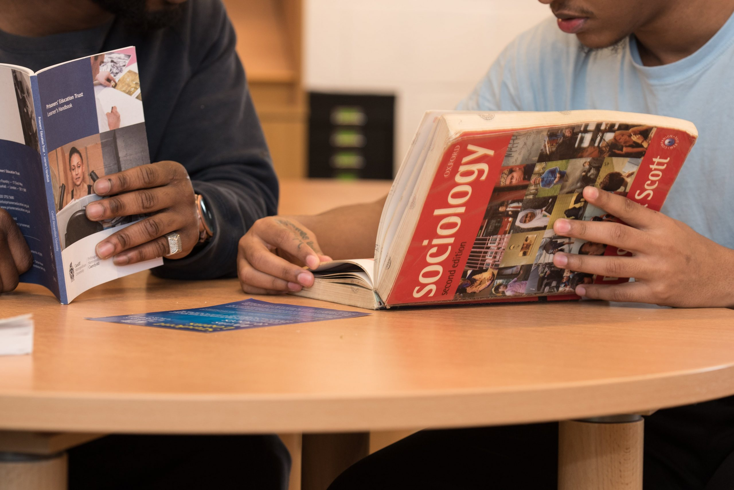 Learner with Sociology textbook