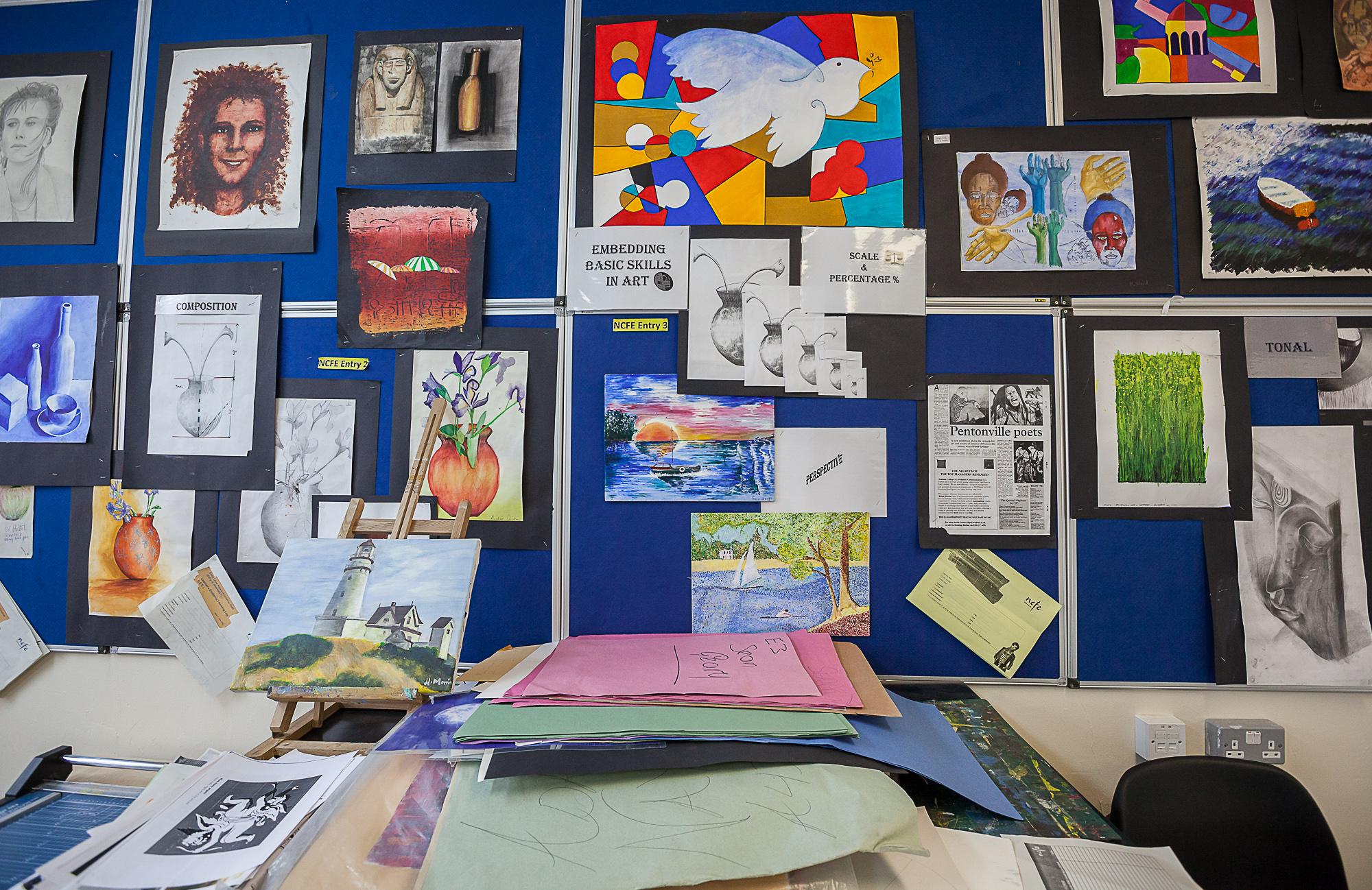 HMP Pentonville Prison, art class