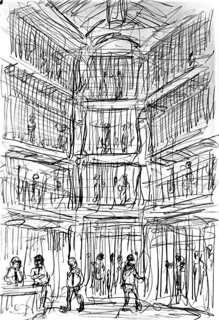 Mathias, Lawrence, Pentonville, 2019. Pencil on paper.