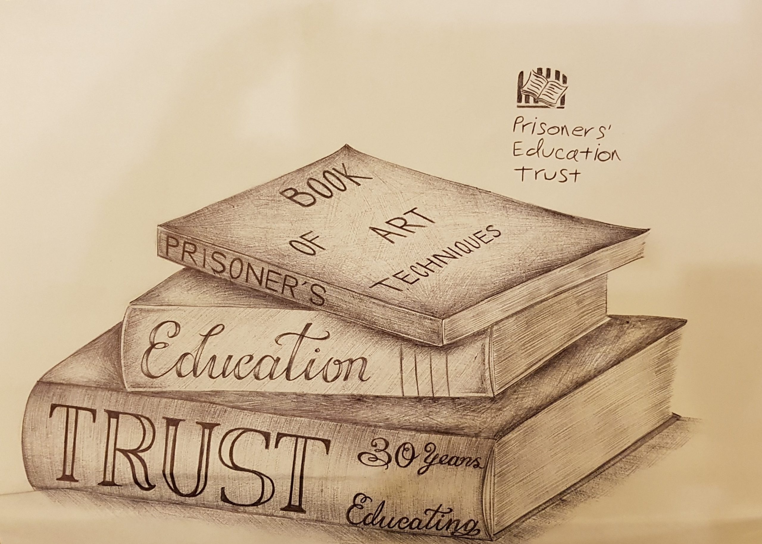 Russell. The Books. 2019. Pencil on paper.