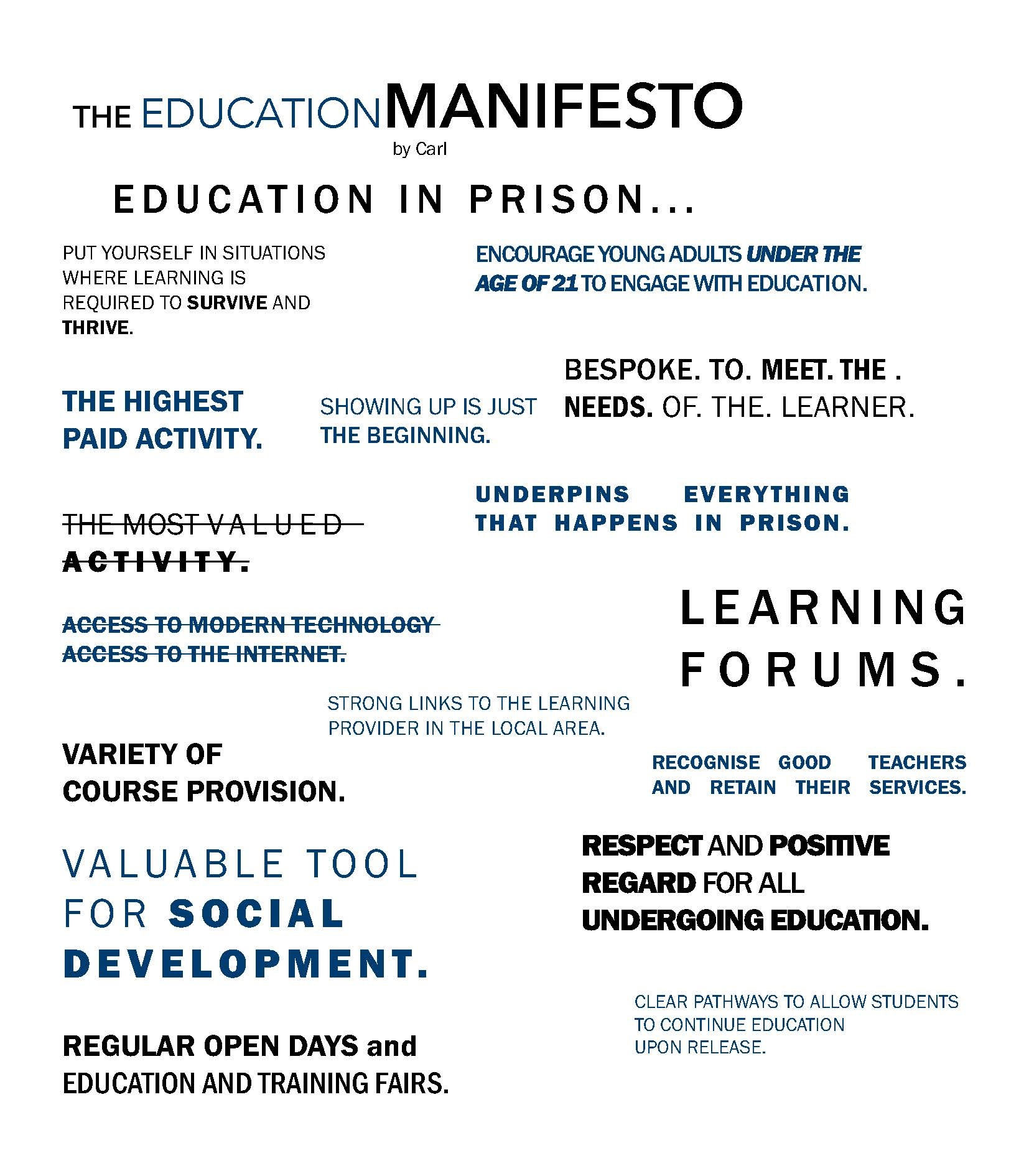 The Education Manifesto by Carl